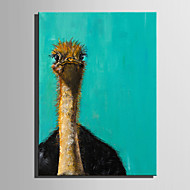 billige -Håndmalte Dyr Lodrett,Moderne Et Panel Lerret Hang malte oljemaleri For Hjem Dekor