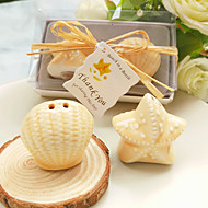 Seashell and Starfish Pepper Shakers Set Wedding Favour Beter Gifts® Party Supplies