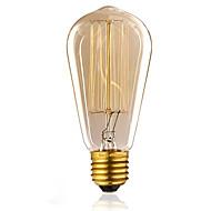 billige Glødelampe-1pc 60W E26/E27 ST58 K Glødende Vintage Edison lyspære AC 220-240V V