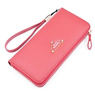 Women Bags PU Polyester Checkbook Wallet for Shopping Daily Casual All Seasons Pale Pink Gray Purple Red Green