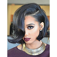 Cheap 130% Density Short Bob Full Lace Wigs with Baby Hair Brazilian 8''-12'' Glueless Full Lace Human Hair Lace Wigs 100% Human Hair Natural Hairline