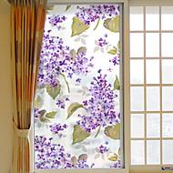 tanie -Kwiatowy Naklejka okienna,PVC/Vinyl Materiał Dekoracja okna