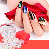 Glitter Pailletter 12 farver Negle kunst Manicure Pedicure Klassisk / Skinnende / Glamour Daglig