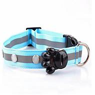 お買い得  犬用カラー/リード/ハーネス-ネズミ 犬 カラー 樹皮の首輪 LEDライト 携帯用 安全用具 調整可能 水玉 ファブリック レッド グリーン ピンク ライトブルー コールドホワイト