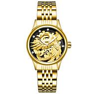 Dámské Módní hodinky Náramkové hodinky mechanické hodinky čínština Mechanické manuální natahování Nerez Kapela Zlatá