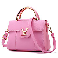Women Bags All Seasons PU Shoulder Bag for Casual Outdoor Red Blushing Pink Beige Gray Light Purple