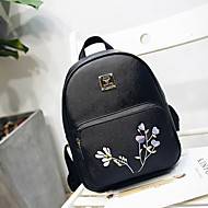 Women Bags All Seasons PU Backpack for Casual White Black