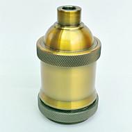 billige belysning Tilbehør-e27 gull antikk lampe holder kort tråd høy kvalitet belysning tilbehør