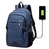 billige Computertasker-Unisex Tasker Lærred Laptoptaske for udendørs / Rejse Sort / Grå / Ametyst