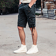 Pánské Jednoduchý Není elastické Volné Kraťasy Kalhoty Volný Mid Rise Velkoformátové Jednobarevné