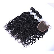 Emberi haj Brazil haj Az emberi haj sző Természetes hullám Póthajak 4 darab Fekete