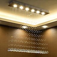 billige Taklamper-6-Light Takplafond Omgivelseslys Krom Krystall Krystall 110-120V / 220-240V Varm Hvit / Hvit Pære Inkludert / Integrert LED