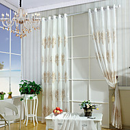 W100cm*L250cm One Pannel Curtains Embroidery Sheer Shade Windows Curtain