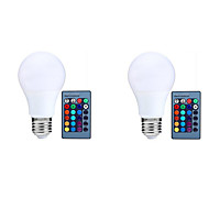 10W E27 LEDスマート電球 A70 25 LED SMD 5050 自動タイプ 赤外線センサー リモコン操作 装飾用 調光可能 RGB 800lm 3000-6500K AC 85-265V