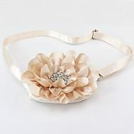 Vrouw Tassen Alle seizoenen Zijde Sling Shoulder Bag Strass Appliqués Sprankelend glitter Bloemen Bloemblaadjes voor Bruiloft