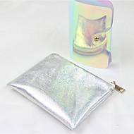 Damen Taschen Ganzjährig PU Kosmetik Tasche für Normal Silber