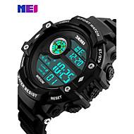billige Kjoleur-Herre Quartz Digital Digital Watch Armbåndsur Smartur Militærur Sportsur Kinesisk Kalender Kronograf LED Stor urskive Ægte læder Bånd