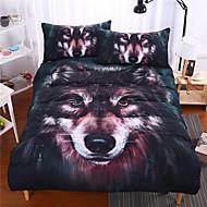 Zwierzęta 3 elementy Reactive Drukuj 3 sztuki (1 poszewka na kołdrę, 2 poduszki Sham)