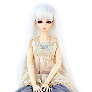 Naisten Synteettiset peruukit Suora Valkoinen Otsatukalla Doll Wig puku Peruukit