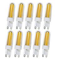 billige Bi-pin lamper med LED-4W G9 LED-lamper med G-sokkel T 4 leds COB Varm hvit Hvit 350-390lm 2800-32006000-6500K AC110V