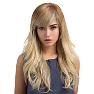 Perucas de cabelo capless do cabelo humano Cabelo Humano Clássico / Ondulado Natural Âmbar Fabrico à Máquina Peruca Diário