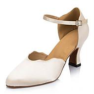 billige Moderne sko-Dame Moderne Silke Sandaler Joggesko Profesjonell Spenne Lav hæl Naken 7 cm Kan spesialtilpasses