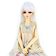 Naisten Synteettiset peruukit Suora Valkoinen Doll Wig puku Peruukit