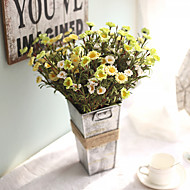 billige Kunstige blomster-5 deler 5 Gren Silke Polyester Kurvplante Bordblomst Kunstige blomster