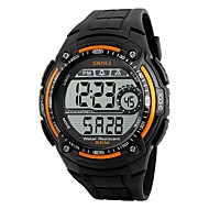 SKMEI Men's Sport Watch Digital Watch Digital Water Resistant / Water Proof Stopwatch PU Band Black