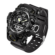 cheap Watches Deal-SANDA Men's Sport Watch / Smartwatch / Wrist Watch Japanese Water Resistant / Water Proof / LED / Dual Time Zones Silicone Band Fashion Black / White / Brown / Stainless Steel / Fitness Trackers