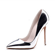 cheap Women's Heels-Women's Shoes Leatherette Summer Fall Formal Shoes Heels Stiletto Heel Open Toe Rivet Hollow-out for Wedding Dress Party & Evening Gold