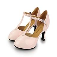 billige Moderne sko-Dame Moderne sko Lakklær Høye hæler / Joggesko Spenne Stiletthæl Dansesko Lys Rød / Rosa / Kakifarget / Trening