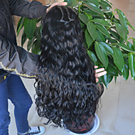 Ženy Paruky z přírodních vlasů Přírodní vlasy Se síťovanou přední částí 130% Hustota Vlnité Paruka Černá Krátký Střední Dlouhý Přírodní