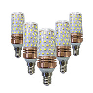 billige Kornpærer med LED-15W 700-800 lm E14 LED-kornpærer T 78 leds SMD 2835 Varm hvit Hvit AC 220V