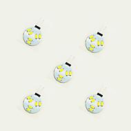 tanie Więcej Kupujesz, Więcej Oszczędzasz-5pcs 1W 75 lm G4 Żarówki LED bi-pin 6 Diody lED SMD 5630 Ciepła biel Biały DC 12V