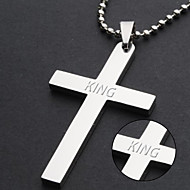 Jewelry mixed batch Bible cross minimalist personality Titanium Stainless Steel Cross Pendant Necklace