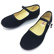 Women's Flats Mary Jane Comfort Spring Summer Fabric Casual Office & Career Buckle Flat Heel Black Flat