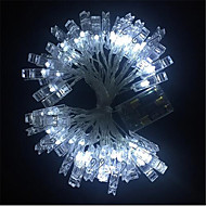 3M Guirlandes Lumineuses 20 LED Blanc Chaud / Blanc / Bleu <5 V / IP65