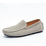 cheap Men's Slip-ons & Loafers-Unisex Moccasin Suede Summer / Fall Loafers & Slip-Ons Gray / Brown / Khaki / Party & Evening