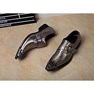baratos Sapatos Masculinos-Unisexo Sapatos formais Pele Napa Outono / Inverno Oxfords Dourado / Prata / Festas & Noite