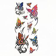billiga Tatuering och body art-1 pcs Tatueringsklistermärken tillfälliga tatueringar Djurserier Vattentät Body art händer / arm / handled
