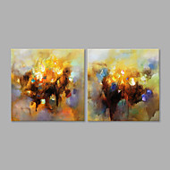 cheap Oil Paintings-Hand-Painted Abstract Horizontal, Artistic Canvas Oil Painting Home Decoration Two Panels