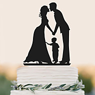 Decorazioni torte Compleanno Matrimonio Alta qualità Plastica Matrimonio Compleanno con 1 Bustina PVC