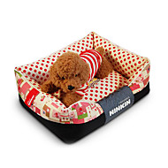 Dog Bed Pet Mats & Pads Polka Dots Warm Soft Coffee Blue Blushing Pink