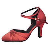 Dame Moderne Silke Sandaler Opptreden Kryss & Tvers Stiletthæl Brun Rød 7 cm Kan spesialtilpasses