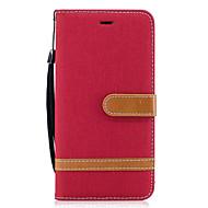 Capinha Para Samsung Galaxy A5(2017) A3(2017) Carteira Porta-Cartão Com Suporte Flip Corpo Inteiro Côr Sólida Rígida Couro Ecológico para