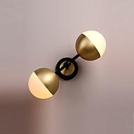baratos -Luzes duplas lâmpada de parede simplicidade de moda vintage metal industrial com base em material de vidro sombra de parede aplique de