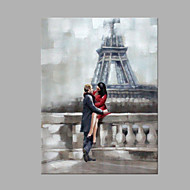 Hand-Painted Romantic Square,Modern Style One Panel Canvas Oil Painting For Home Decoration