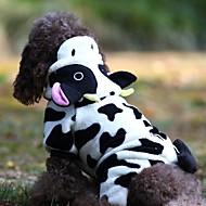 Cachorro Fantasias Macacão Roupas para Cães Tecido Felpudo Inverno Primavera/Outono Fantasias Animal Para animais de estimação