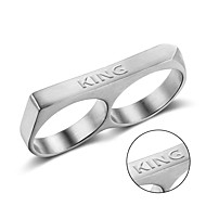Titanium rings Europe punk style exquisite polishing ring laser engraving